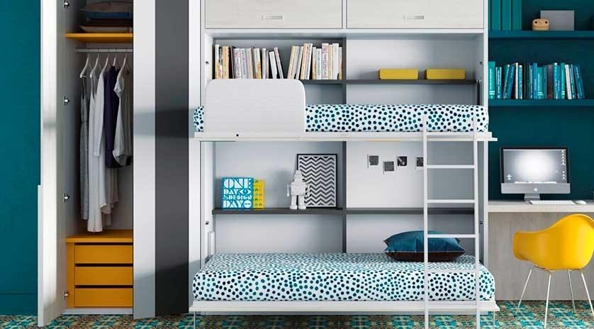 Muebles cama literas abatibles horizontal