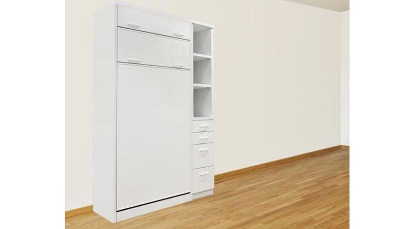 Litera abatible vertical en color blanco de 90 x 190