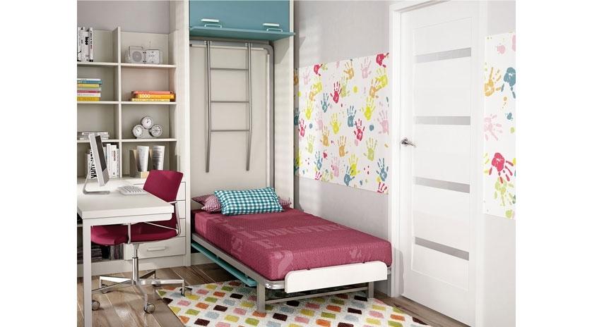 Mueble cama con litera abatible vertical sofas cama cruces - Literas con sofa cama ...