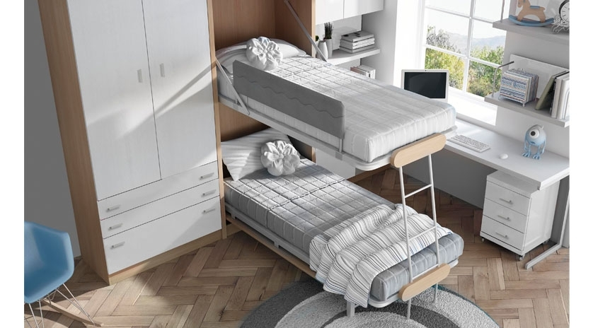 Mueble cama litera abatible vertical sofas cama cruces - Litera abatible vertical ...