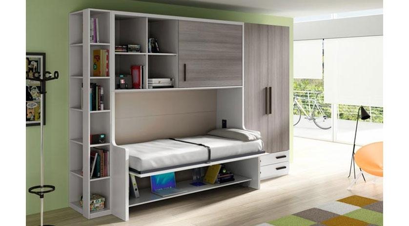 Mueble Cama abatible de 90 x 190 con mesa.