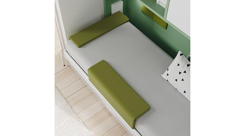 Cama abatible horizontal individual con mesa y armario ... - photo#30