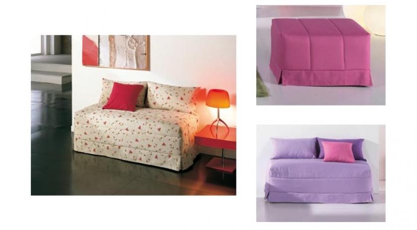 Puff cama cl sico de matrimonio sofas cama cruces - Sofa cama clasico ...