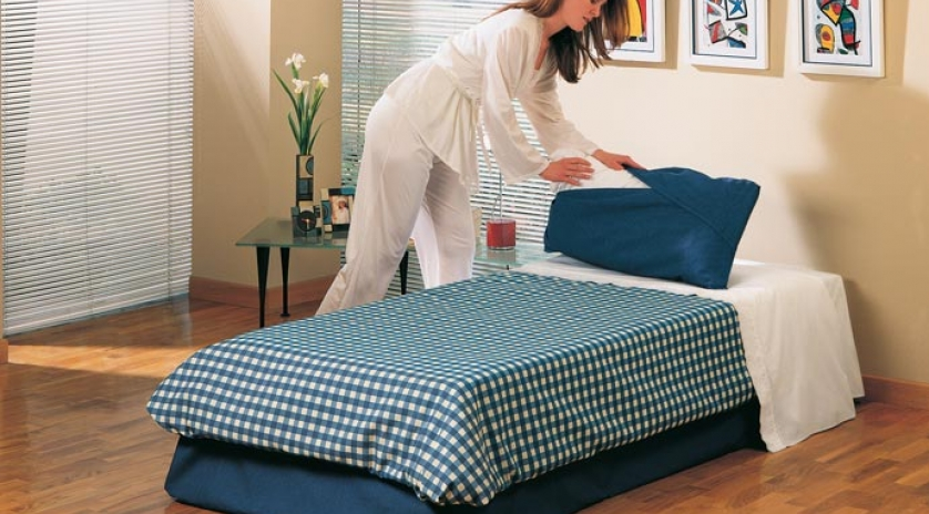 Puff cama 135x190 abierto