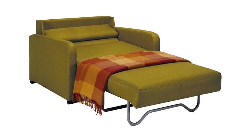 Sill n cama sencillo sofas cama cruces for Sillon cama pequeno