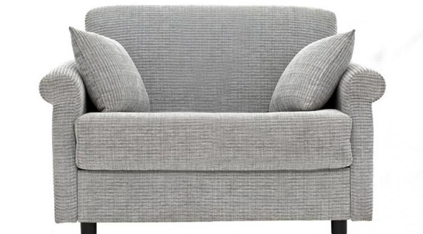 Sill n cama con brazo redondo sofas cama cruces for Cama individual tipo sillon