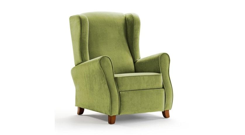 Sill n relax reclinable con respaldo orejero sofas cama for Sillon cama juvenil
