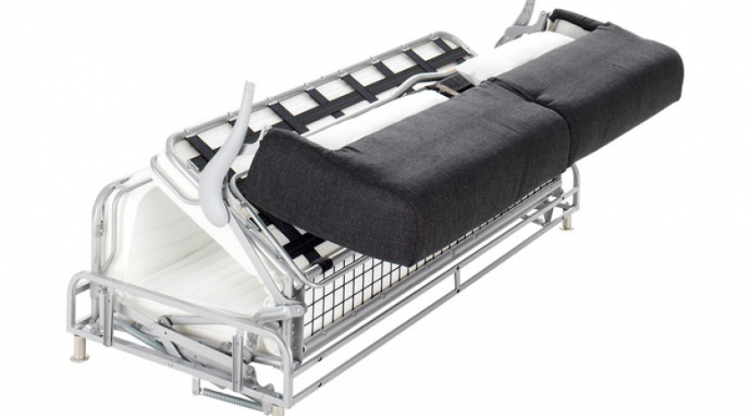 Sofá cama con colchón viscoelástico apertura