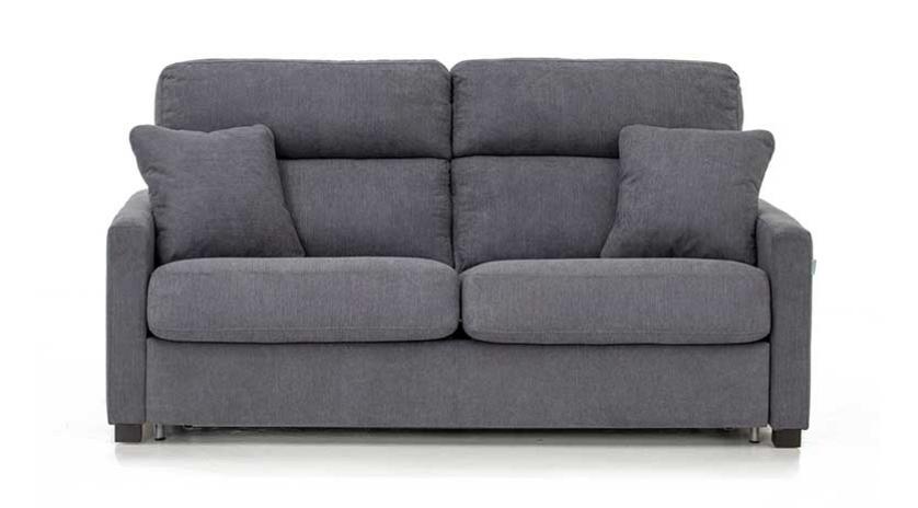Sofá cama con respaldo alto y brazo estrecho frontal