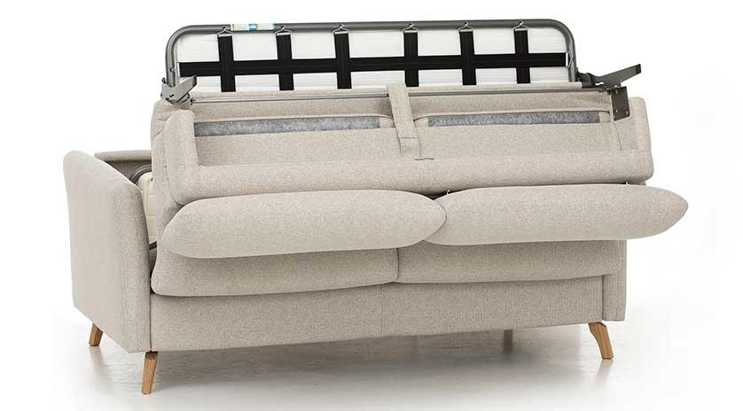 Sofá cama nórdico con cabecero regulable frontal
