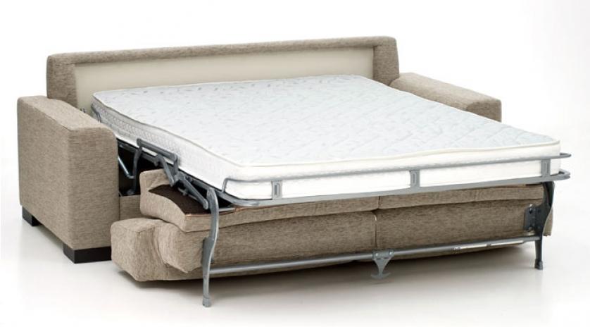 Sofá cama línea actual abierto