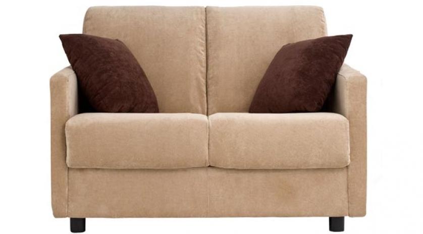 Sofá cama individual pequeño con brazo estrecho frontal
