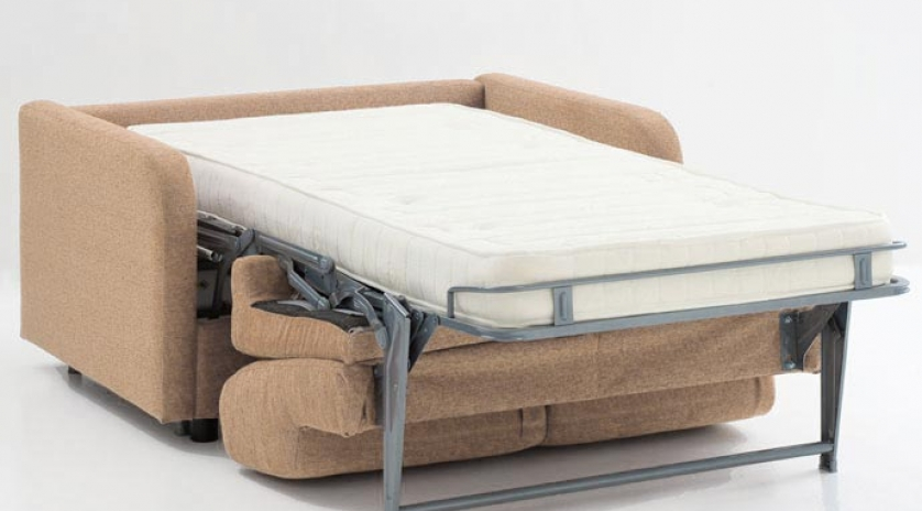 Sofá cama individual pequeño con brazo estrecho abierto