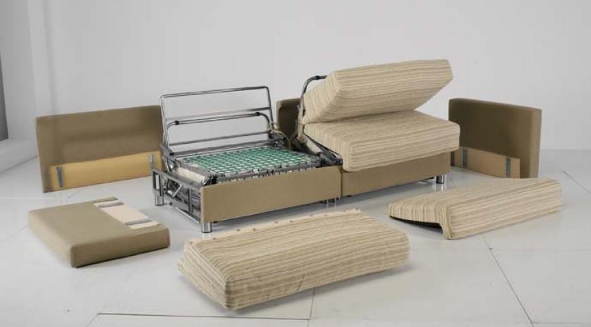 Sofá cama con dos camas piezas