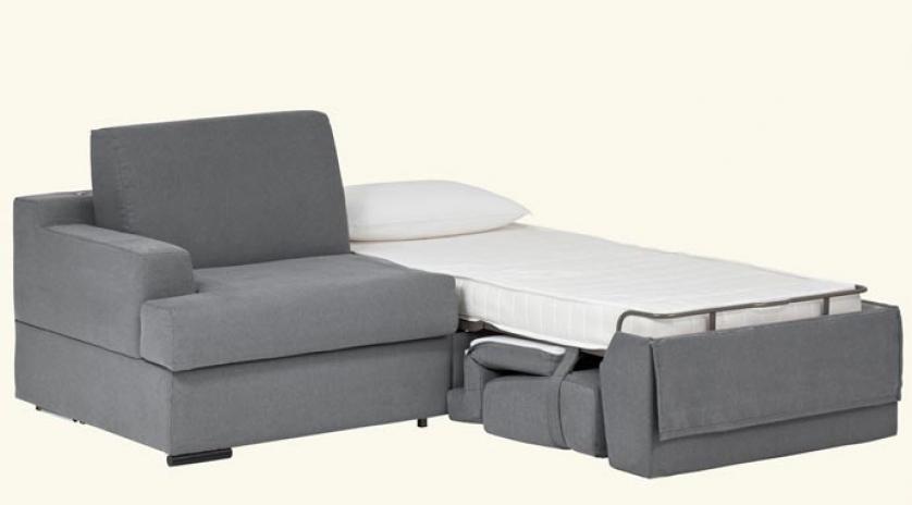 Sofá camas gemelas 1 cama abierta