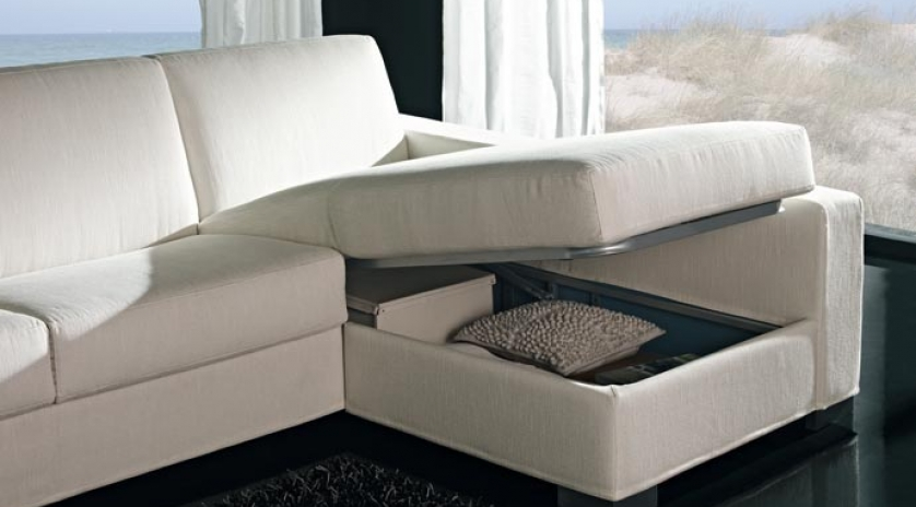 Gran sof cama con chaise longue de brazo largo sofas for Sofa cama cheslong