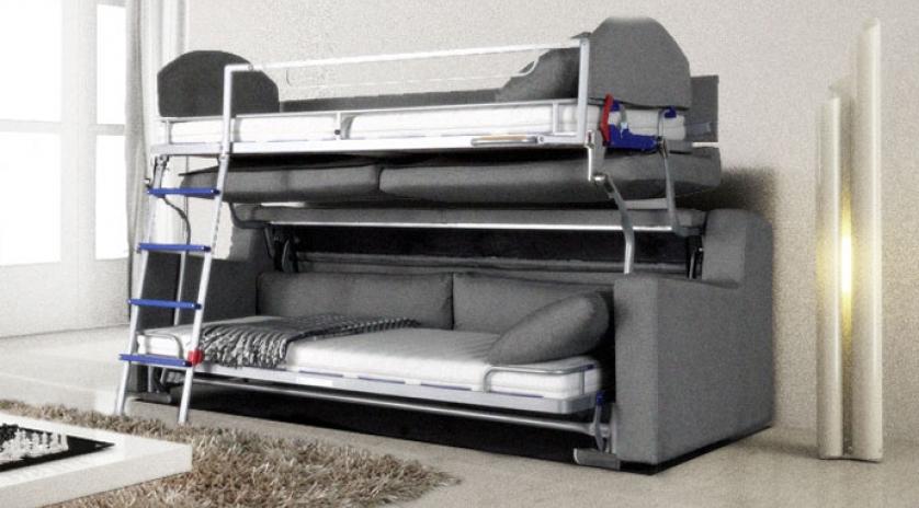 Sofá cama litera abierto