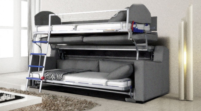 Gran sof cama con litera sofas cama cruces for Cama cama cama