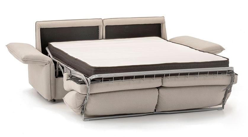 Sofá cama matrimonio colchon latex frontal