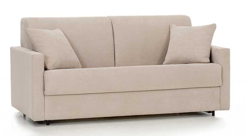 Sofá cama con brazo estrecho perspectivaSofá cama con brazo estrecho frontal