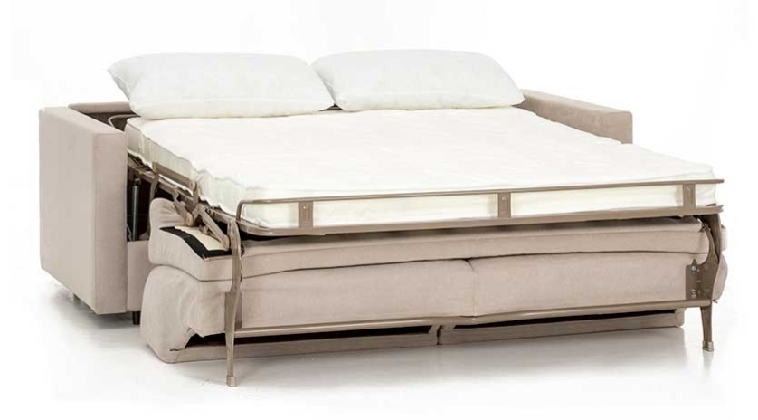Sofá cama con brazo estrecho frontal
