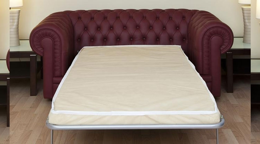 Sofá cama chester en piel abierto
