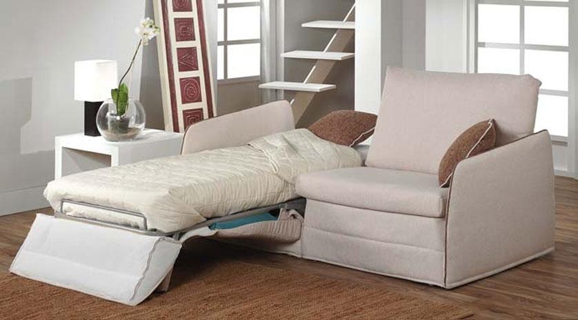 Sofá cama 2 camas gemelas 1 abierta