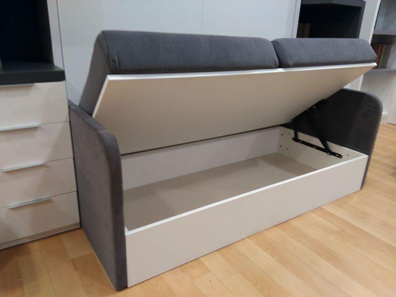 Cama abatible con sof delante y dos librer as sofas for Sofa con dos camas