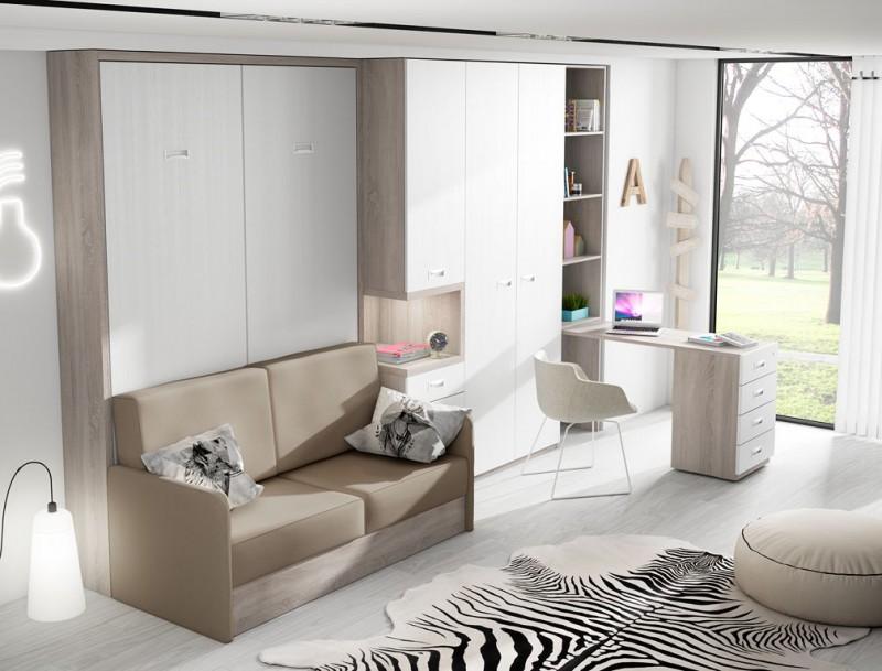 Muebles cama abatibles con sof la soluci n perfecta para - Metro cuadrado muebles ...