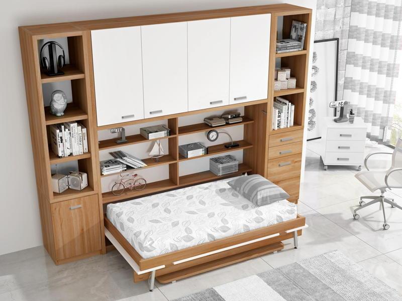 Camas abatibles la soluci n para ganar espacio en los - Habitaciones camas abatibles ...