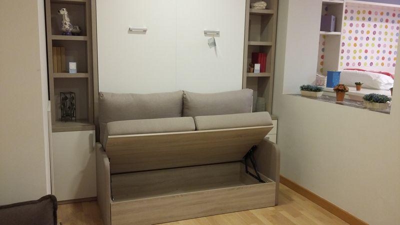Cama abatible con sof delante y dos librer as sofas - Muebles por un euro ...